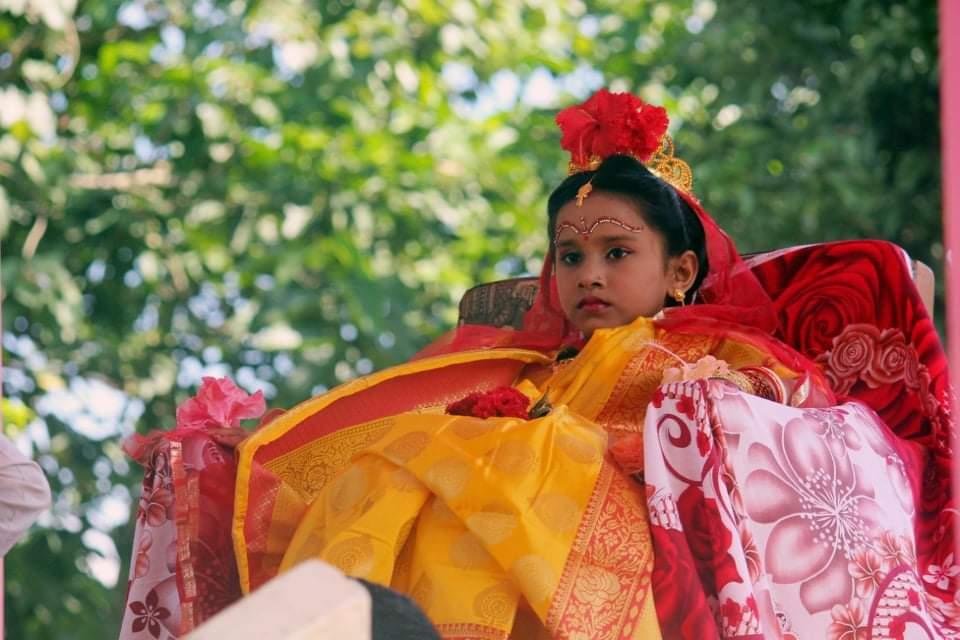 শ্রীমঙ্গলে সাতগাঁও রঘুনাথপুরে কুমারী পূজা অনুষ্ঠিত
